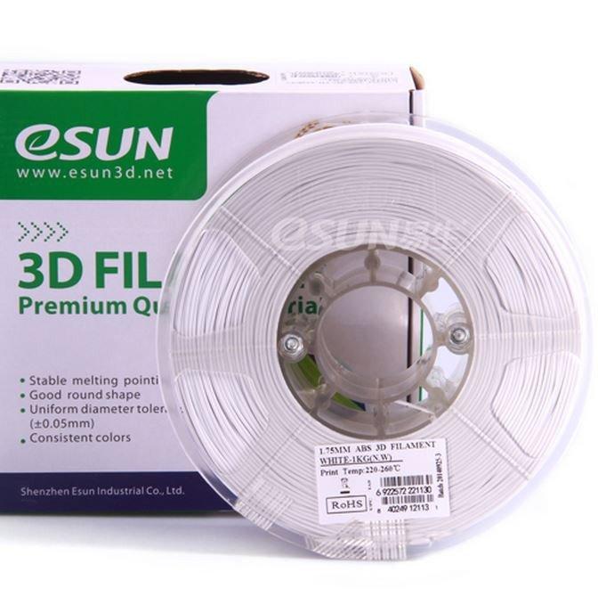 Фото нить для 3D-принтера eSUN 3D FILAMENT ABS WHITE 3.00 мм