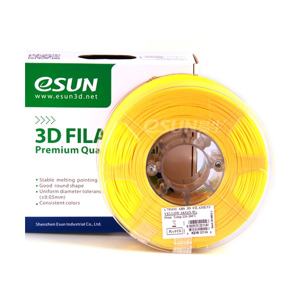 Фото нить для 3D-принтера eSUN 3D FILAMENT ABS YELLOW 3.00 мм