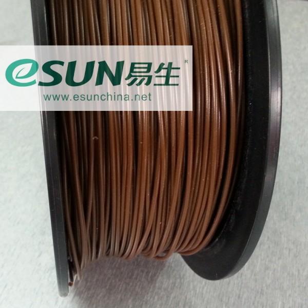 Фото нить для 33D-принтера eSUN 3D FILAMENT PLA BROWN(CHOCOLATE) 3.00 мм