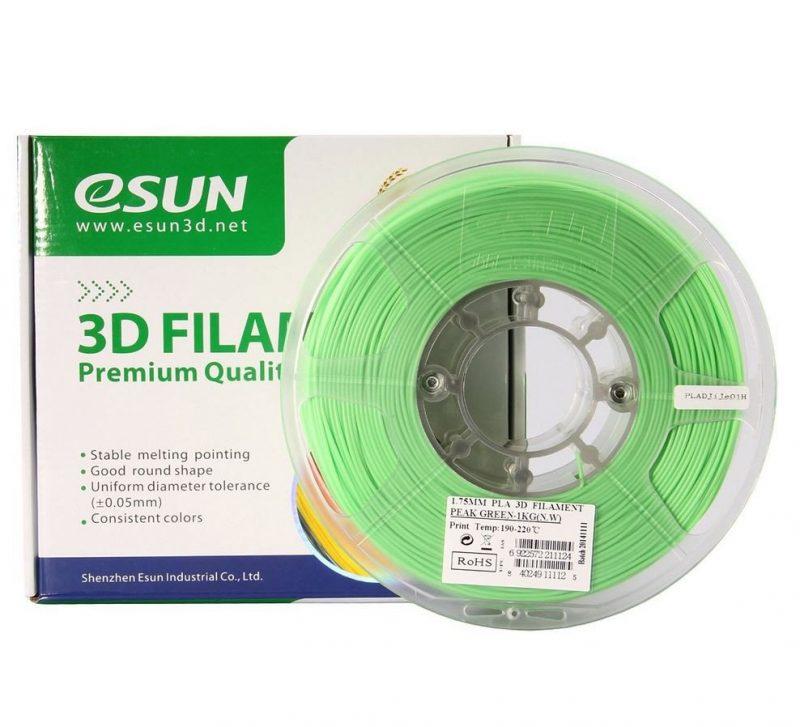 Фото нить для 3D-принтера eSUN 3D FILAMENT PLA PEAK GREEN 3.00 мм