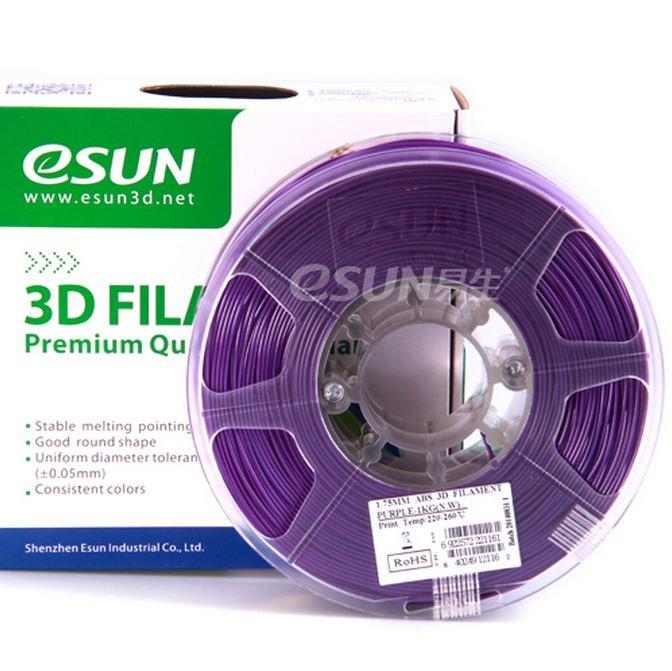 Фото нить для 3D-принтера eSUN 3D FILAMENT PLA PURPLE 3.00 мм