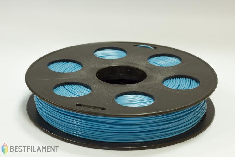 Фото нить для 3D-принтера Голубой ABS пластик Bestfilament 0.5 кг, 1.75 мм