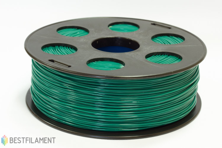 Фото нить для 3D-принтера Изумрудный ABS пластик Bestfilament 1 кг, 1.75 мм