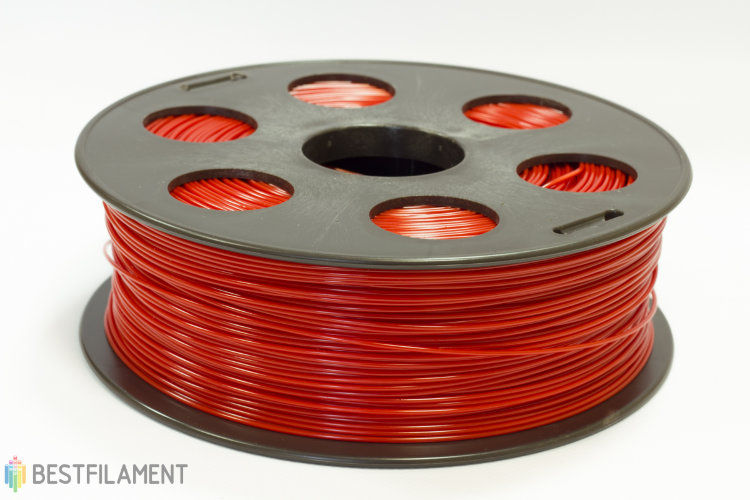 Фото нить для 3D-принтера Красный ABS пластик Bestfilament 1 кг, 2.85 мм