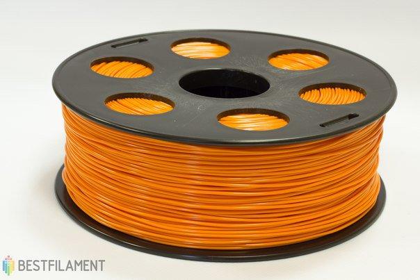 Фото нить для 3D-принтера Оранжевый PLA пластик Bestfilament 1 кг, 2.85 мм