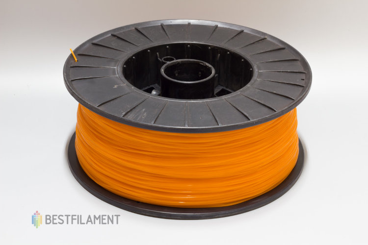 Фото нить для 3D-принтера Оранжевый PLA пластик Bestfilament 2.5 кг, 1.75 мм