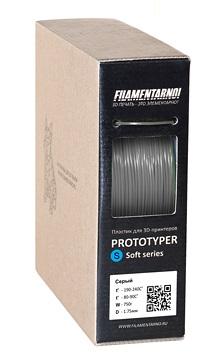 Фото нить для 3D-принтера PROTOTYPER S-SOFT (СПЛОШНОЙ) 1.75 мм Серый