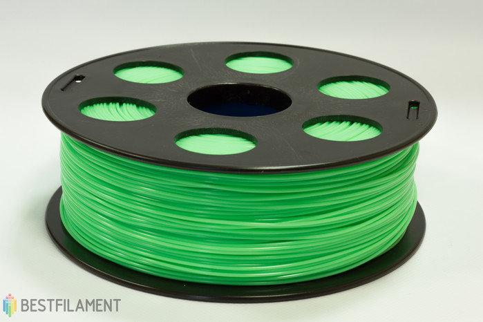 Фото нить для 3D-принтера САЛАТОВЫЙ ABS пластик Bestfilament 1 кг, 1.75 мм
