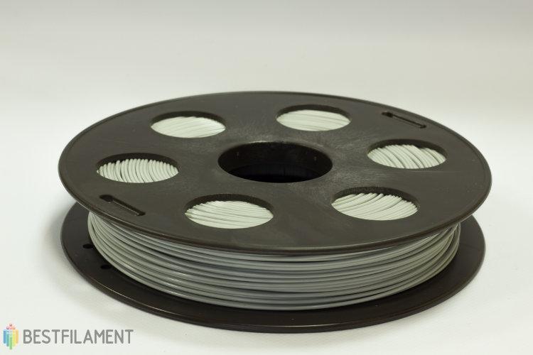Фото нить для 3D-принтера Светло-серый ABS пластик Bestfilament 0.5 кг, 1.75 мм