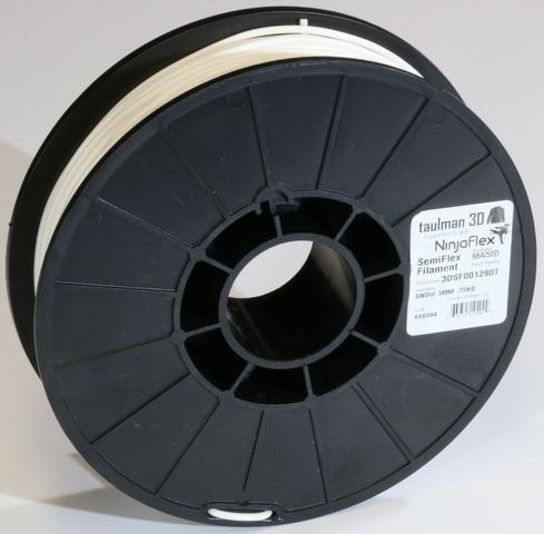 Фото нить для 3D-принтера Taulman 3D 1.75mm Snow SemiFlex 0.5 kg