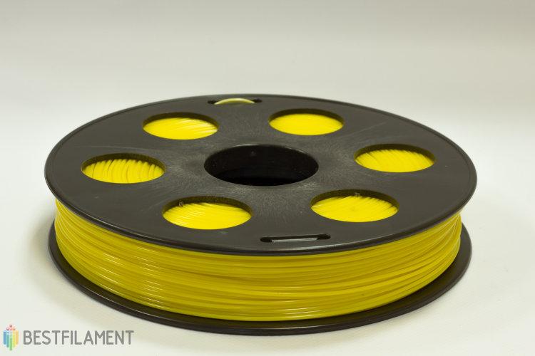 Фото нить для 3D-принтера Желтый ABS пластик Bestfilament 0.5 кг, 1.75 мм