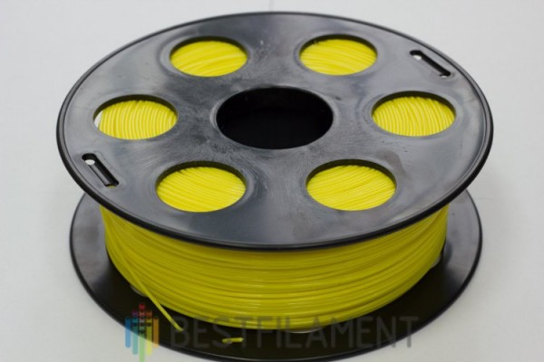 Фото нить для 3D-принтера Желтый PLA пластик Bestfilament 1 кг, 1.75 мм