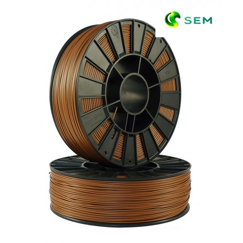 Фото нить для 3D-принтера ABS пластик 1,75 SEM бронзовый металлик