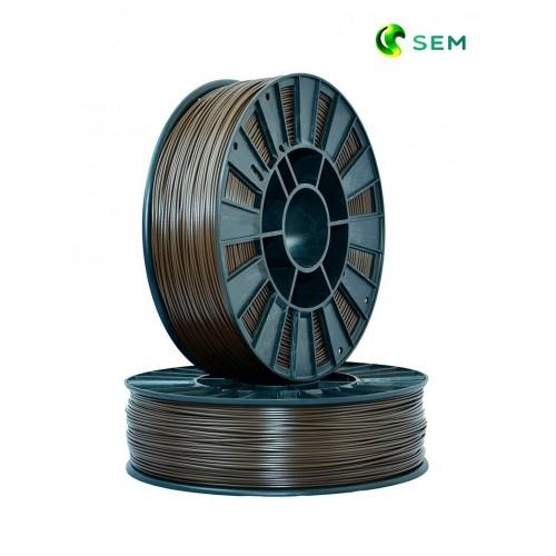 Фото нить для 3D-принтера ABS пластик 1,75 SEM коричневый