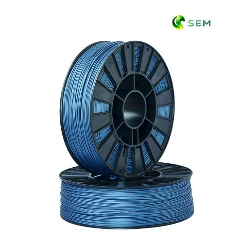 Фото нить для 3D-принтера ABS пластик 1,75 SEM синий металлик