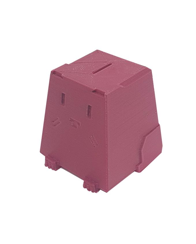 Фото пример пластика sem цвет бордовый