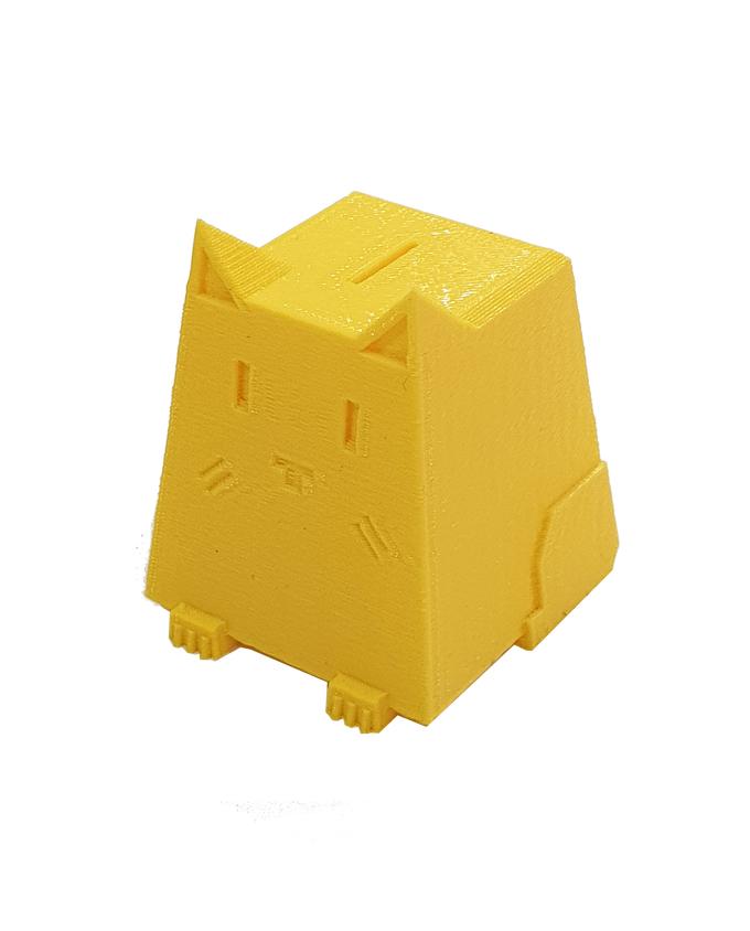 Фото пример пластика sem цвет желтый