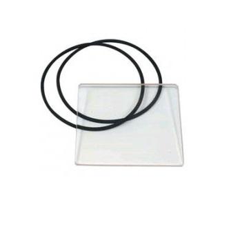 Фото Стекло смотровое плавильного узла в комплекте с двумя уплотнителями