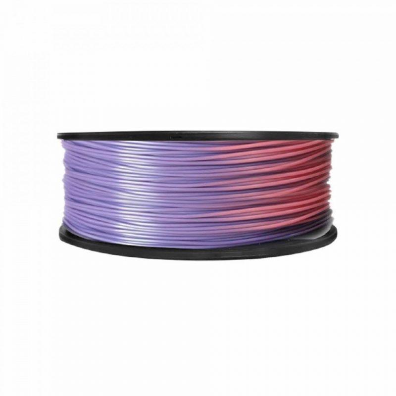 Фото ABS пластик FL33 1 кг меняющий цвет фиолетово-розовый