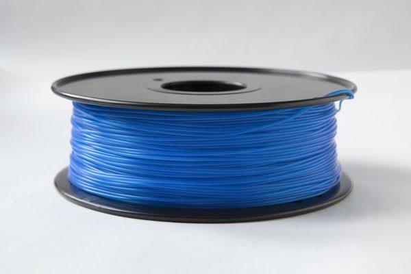 Фото ABS пластик FL33 1 кг светящийся синий