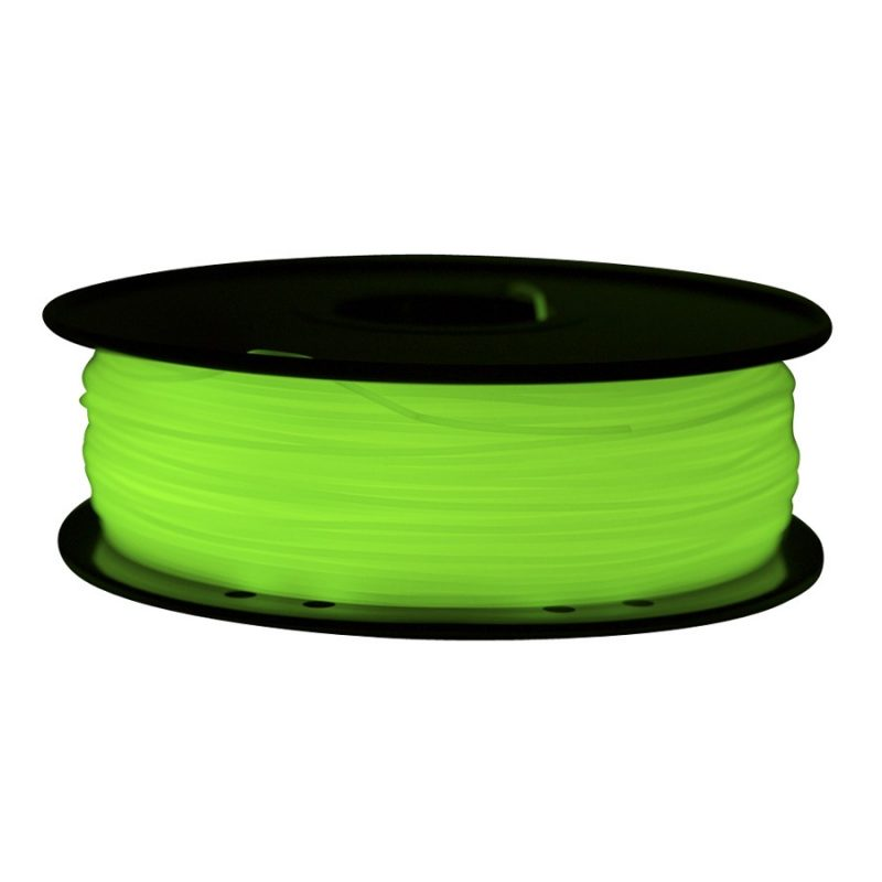 Фото ABS пластик FL33 1 кг светящийся зеленый