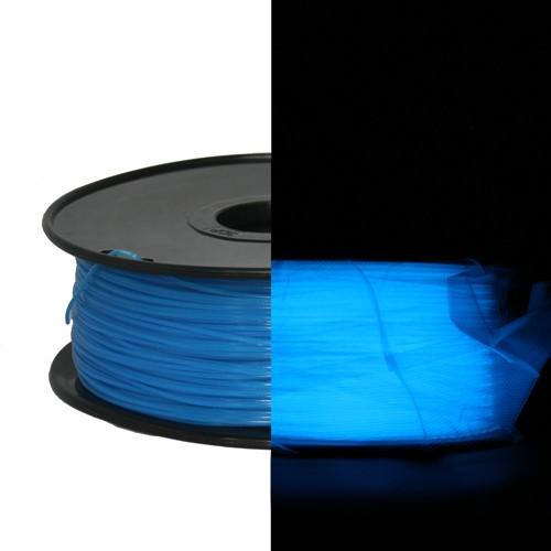 Фото PLA пластик FL33 0.5 кг светящийся синий