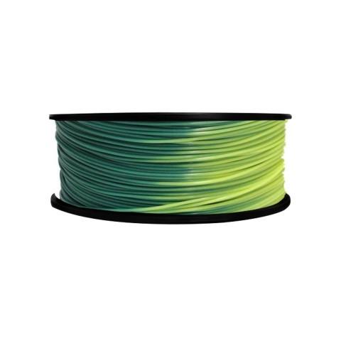 Фото PLA пластик FL33 1 кг меняющий цвет зелено-желтый