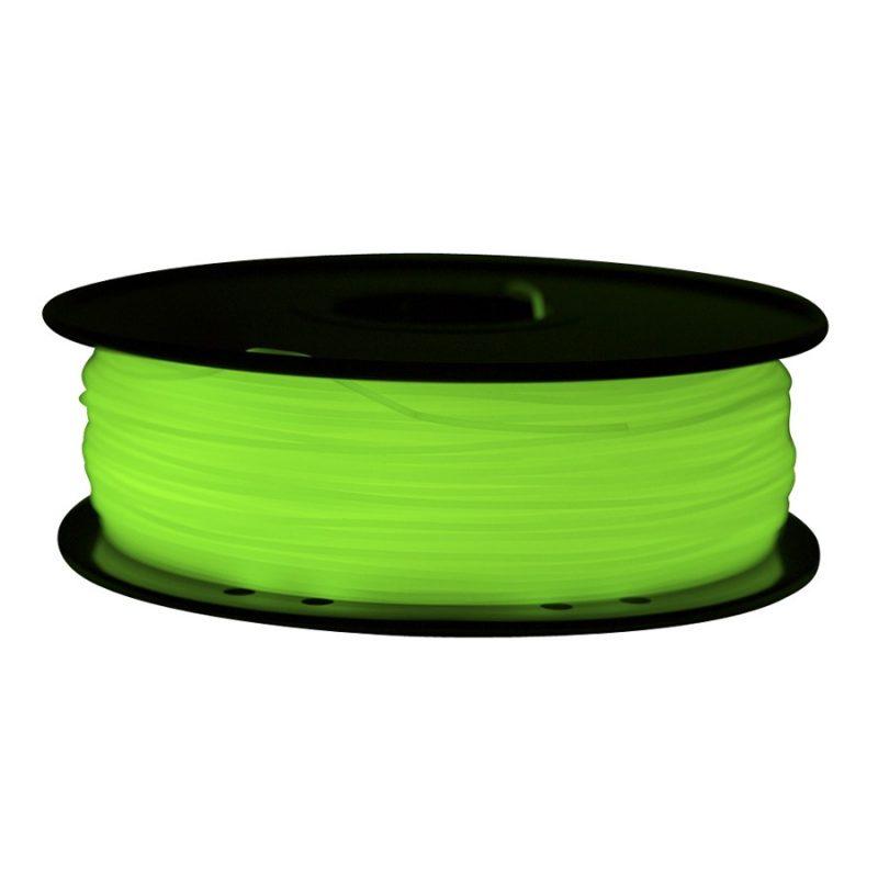 Фото PLA пластик FL33 1 кг светящийся зеленый