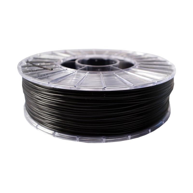 Фото нити для 3D-принтера PLA пластик 1,75 Экофил Стримпласт черный