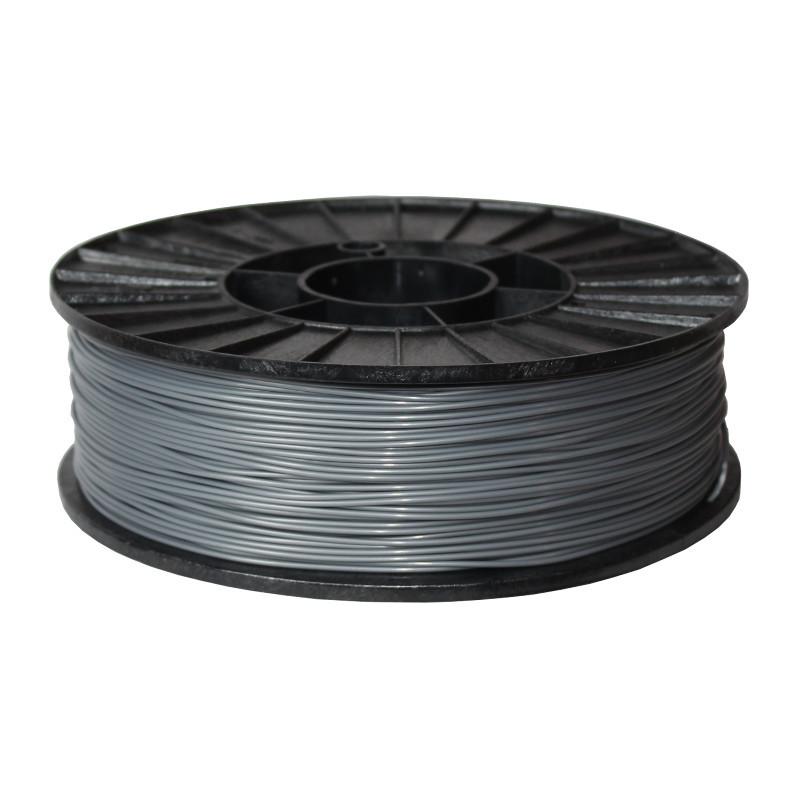 Фото нити для 3D-принтера ABS + пластик 1,75 Стримпласт серебристо-серый