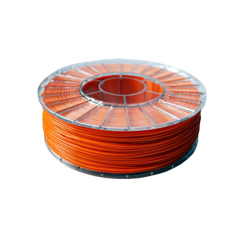 Фото нити для 3D-принтера PLA пластик 1,75 Экофил Стримпласт оранжевый