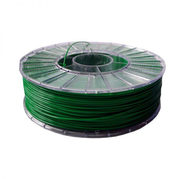 Фото нити для 3D-принтера PLA пластик 1,75 Экофил Стримпласт зеленый