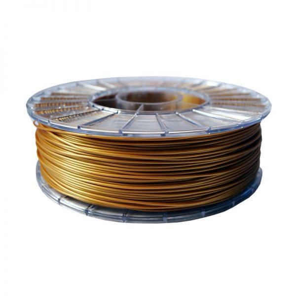 Фото нити для 3D-принтера PLA пластик 1,75 Экофил Стримпласт золотистый