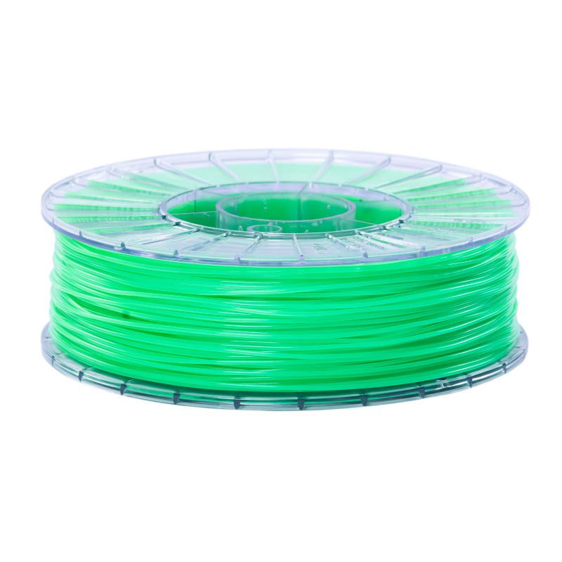 Фото нити для 3D-принтера SBS пластик 1,75 Стримпласт зеленый люминесцентный