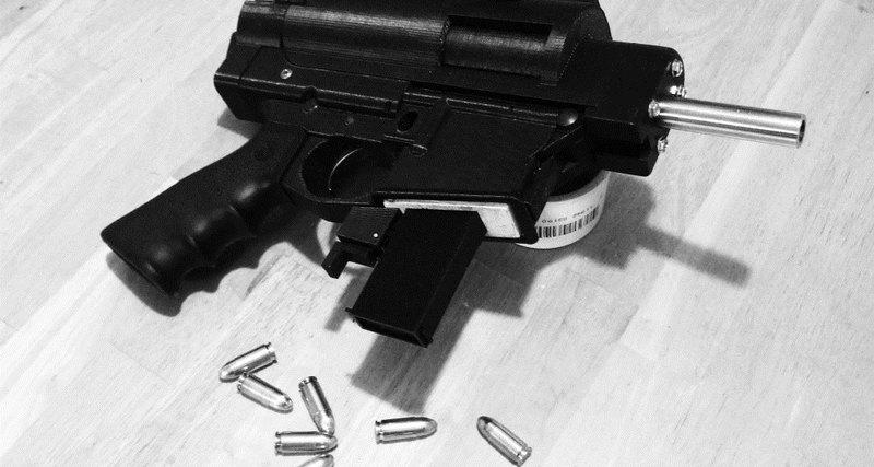 Оружие распечатанное на 3Д принтере