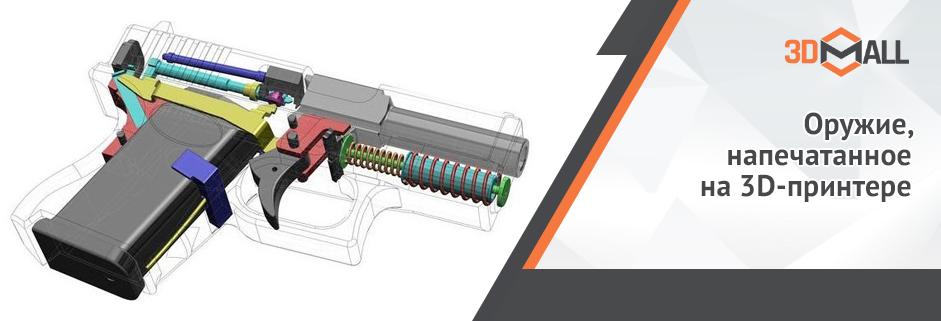Баннер Оружие напечатанное на 3D принтере
