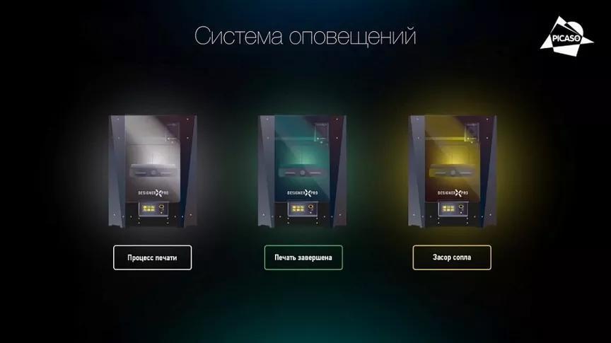 Фото системы оповещений Picaso 3D Designer X