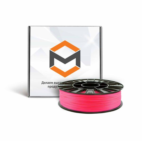 Фото ABS пластика 1,75 мм 3DMall флуоресцентный розовый