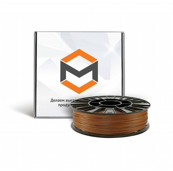 Фото ABS пластика 1,75 мм 3DMall металлик бронзовый