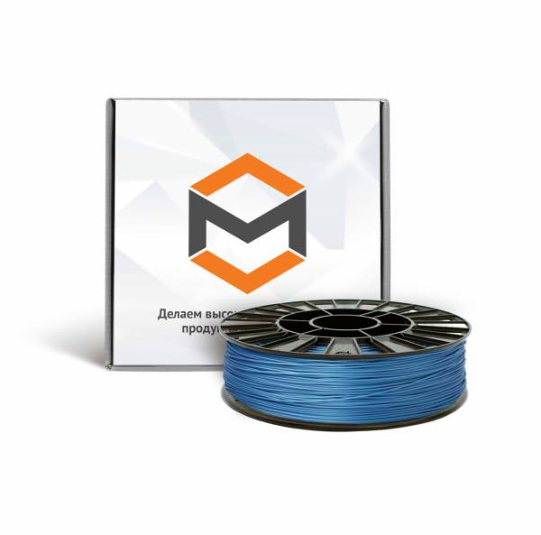 Фото ABS пластика 1,75 мм 3DMall металлик синий