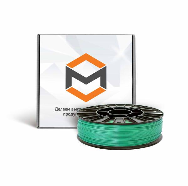 Фото ABS пластика 1,75 мм 3DMall металлик зеленый