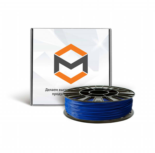 Фото ABS пластика 1,75 мм 3DMall синий