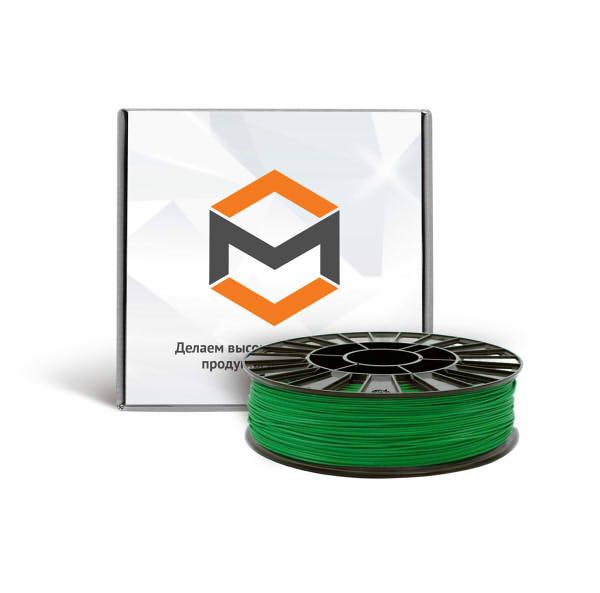 Фото ABS пластика 1,75 мм 3DMall зеленый
