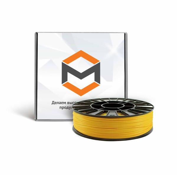 Фото ABS пластика 1,75 мм 3DMall желтый