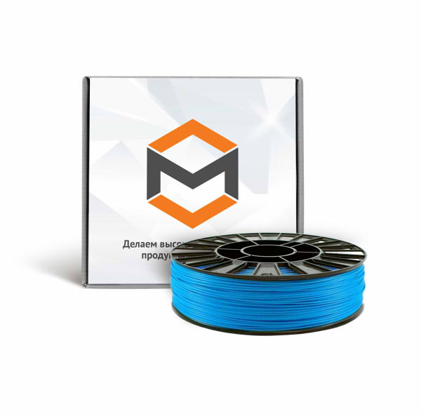 Фото PLA пластика 1,75 мм 3DMall голубой