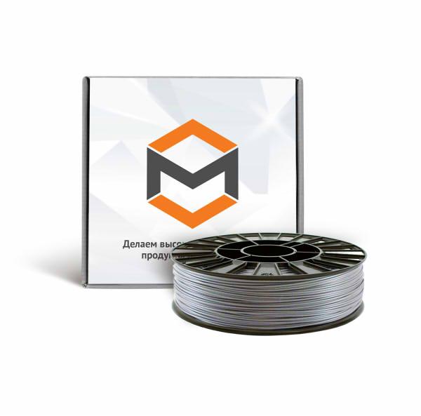 Фото PLA пластика 1,75 мм 3DMall металлик серый