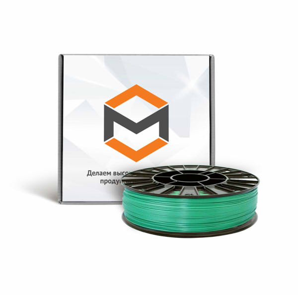 Фото PLA пластика 1,75 мм 3DMall металлик зеленый