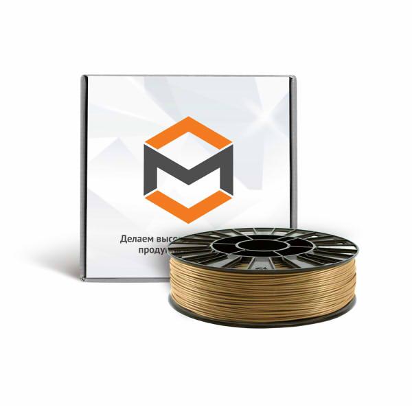 Фото PLA пластика 1,75 мм 3DMall металлик золотой