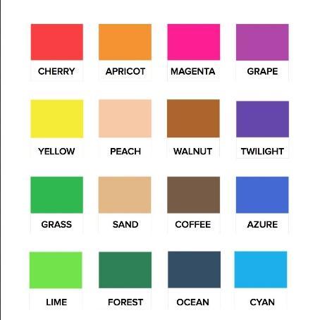 Фото набора Formlabs Form 2 Color Kit доступные цвета