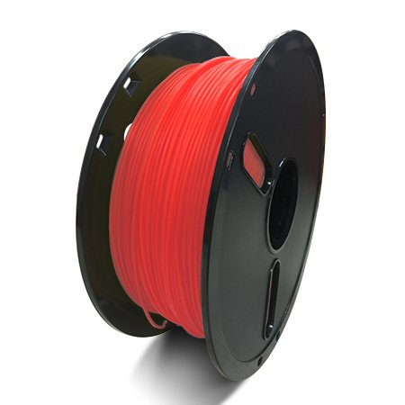 Фото нити для 3D принтера PLA-пластик Raise3D Premium, 1.75 мм, 1 кг, прозрачно-красный